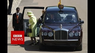 The Queen and Duke of Edinburgh have arrived at St George's Chapel....
