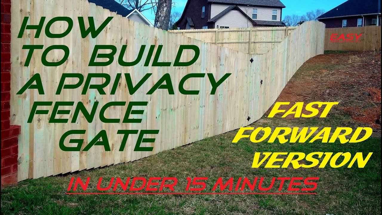 How to build a privacy fence gate easy in under 15 minutes fast how to build a privacy fence gate easy in under 15 minutes fast forward version baanklon Image collections