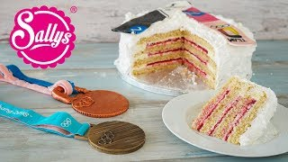 Snowboard Cake / Schneebombe / backen mit Ramona Hofmeister