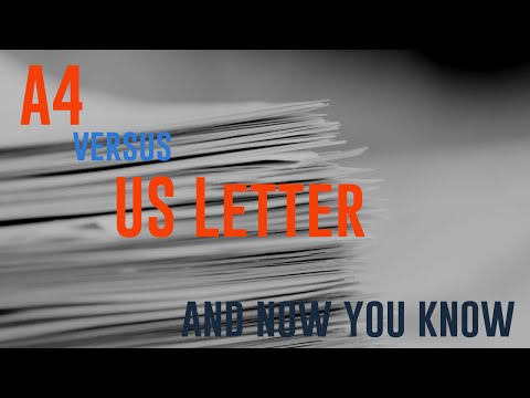 A4 versus US Letter - Battle of the paper sizes