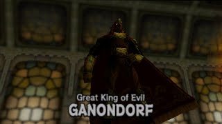 Legend of Zelda Ocarina of Time Final Boss: Ganondorf