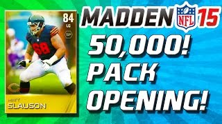 Madden 15 Ultimate Team - 50k Pack Opening! - Auction Block Tutorial! - Mut 15