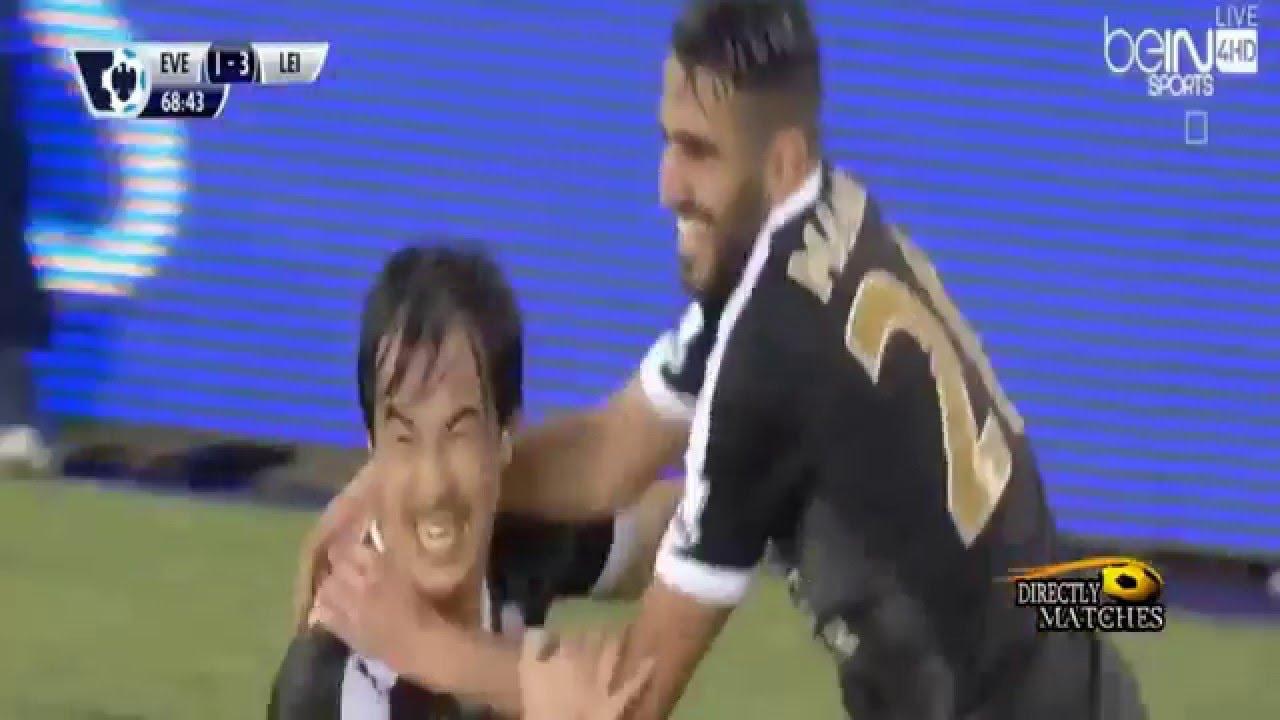 هدفي رياض محرز و كل ما فعله ضد إفرتون Riyad mahrez vs ...