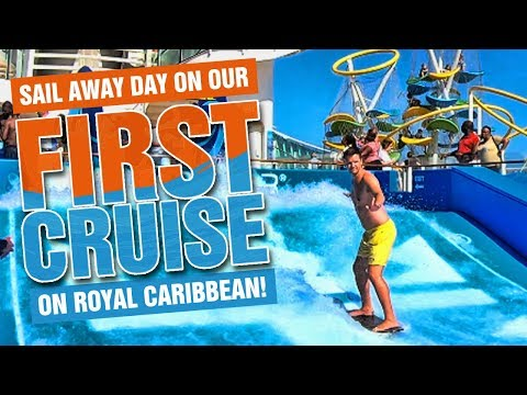 FIRST CRUISE SAIL AWAY DAY, The Key Program on Royal Caribbean and touring the ship!