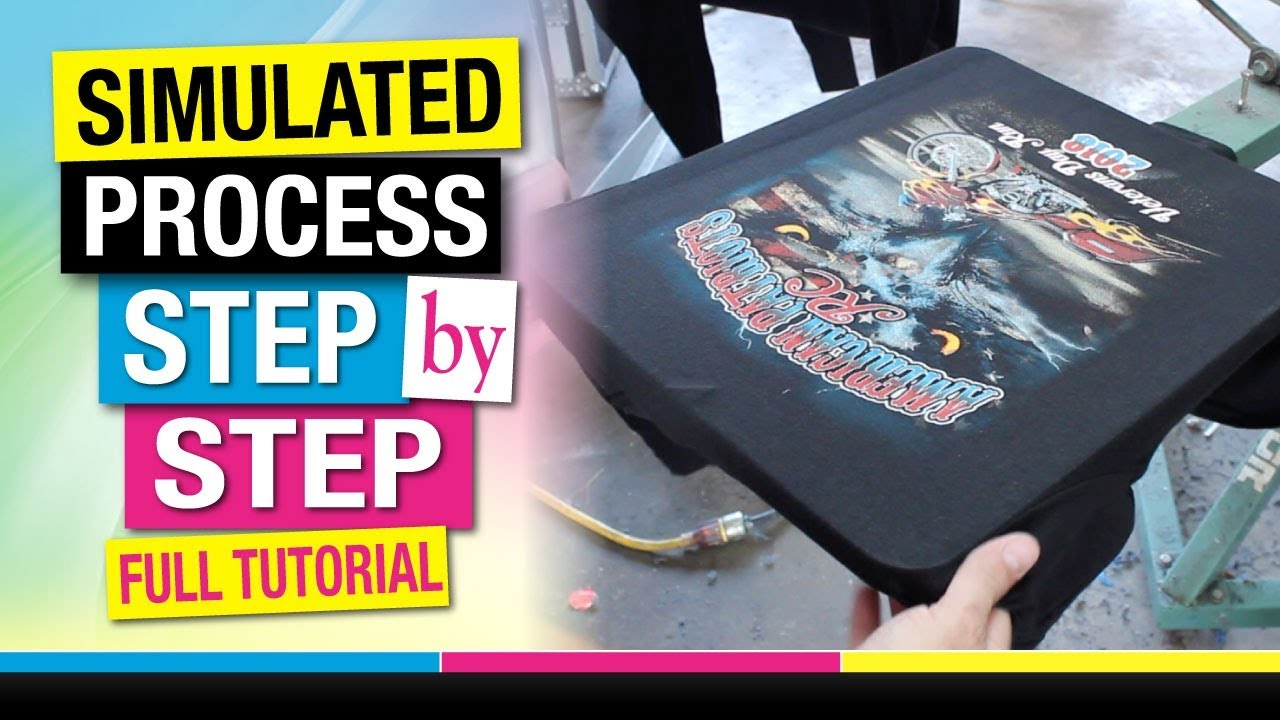 173ddb31 How to Screen Print Simulated Spot Process Step by Step Full Tutorial. Mikey  Designs & Silk Screen