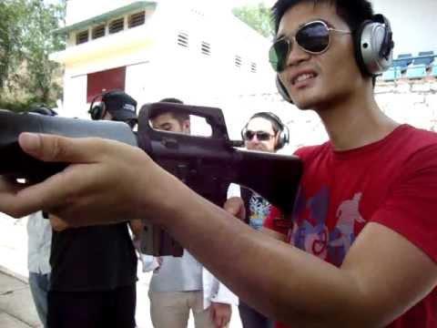 Bắn súng ak, m16,m1 tại địa đạo củ chi_3