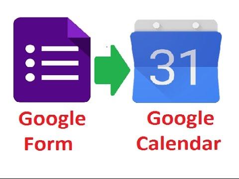 Google Form To Google Calendar Create Google Calendar Events From