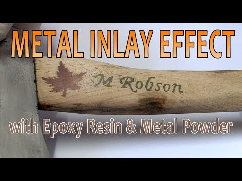 Metal Inlay Effect with Epoxy Resin and metal Powder