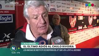 INSTITUTO: LOS HINCHAS DE LA GLORIA SE DESPIDEN CON DOLOR DEL CHULO RIVOIRA