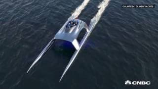 Super fast super yacht ready for water