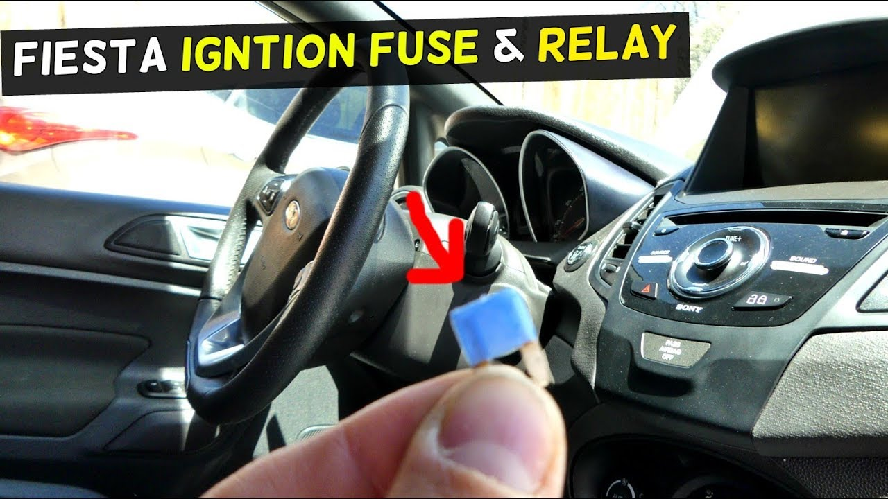 FORD FIESTA IGNITION SWITCH FUSE RELAY LOCATION MK7 ST