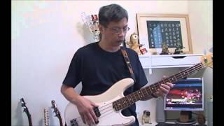 Let your love flow   bass cover 7 25
