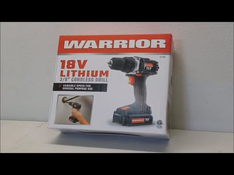 Harbor Freight WARRIOR 18V Lithium Cordless Drill Review