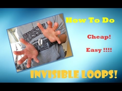 How To Make Invisible Elastic Loops! CHEAP WAY !