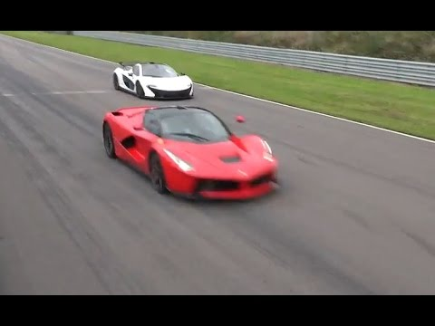 [4k] LaFerrari vs McLaren P1 on the straight all out in Ultra HD 4k