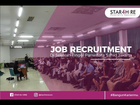 Job Recruitment STAR4Hire di Sekolah Tinggi Pariwisata Sahid Jakarta
