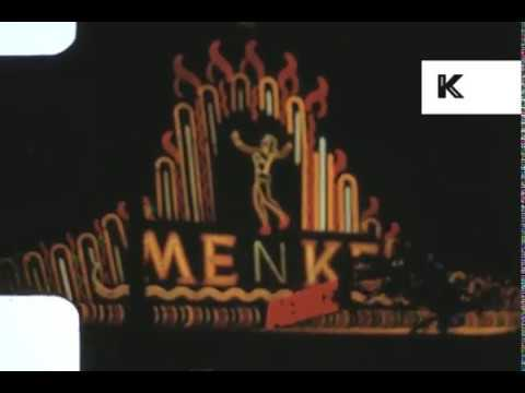 Drive Through 1960s Reeperbahn at Night, Hamburg, Home Movies
