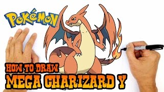 How to Draw Mega Charizard Y (Pokemon)- Kids Art Lesson