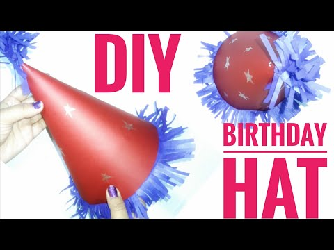 HOW TO MAKE A BIRTHDAY HAT WITH PAPER OR FELT