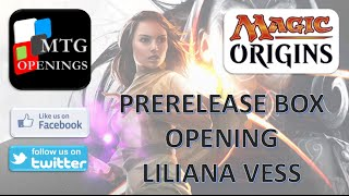 Magic Origins Prerelease Pack - Liliana Vess Black Unboxing
