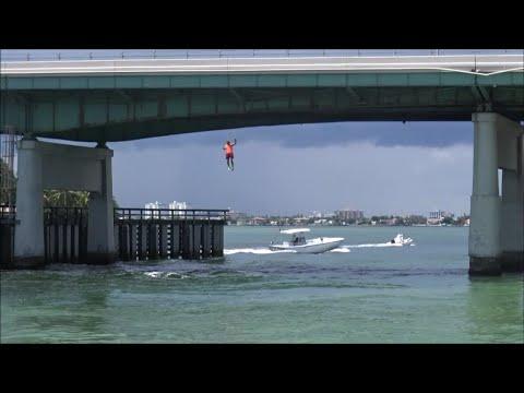 Epic Haulover Beach Bridge Jump