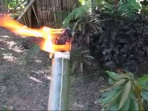 bamboo torch for night crab hunting filippino style