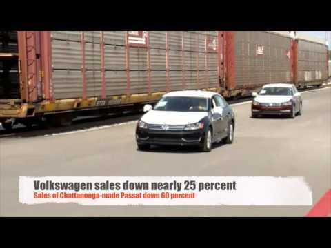 Volkswagen sales plummet after emissions scandal