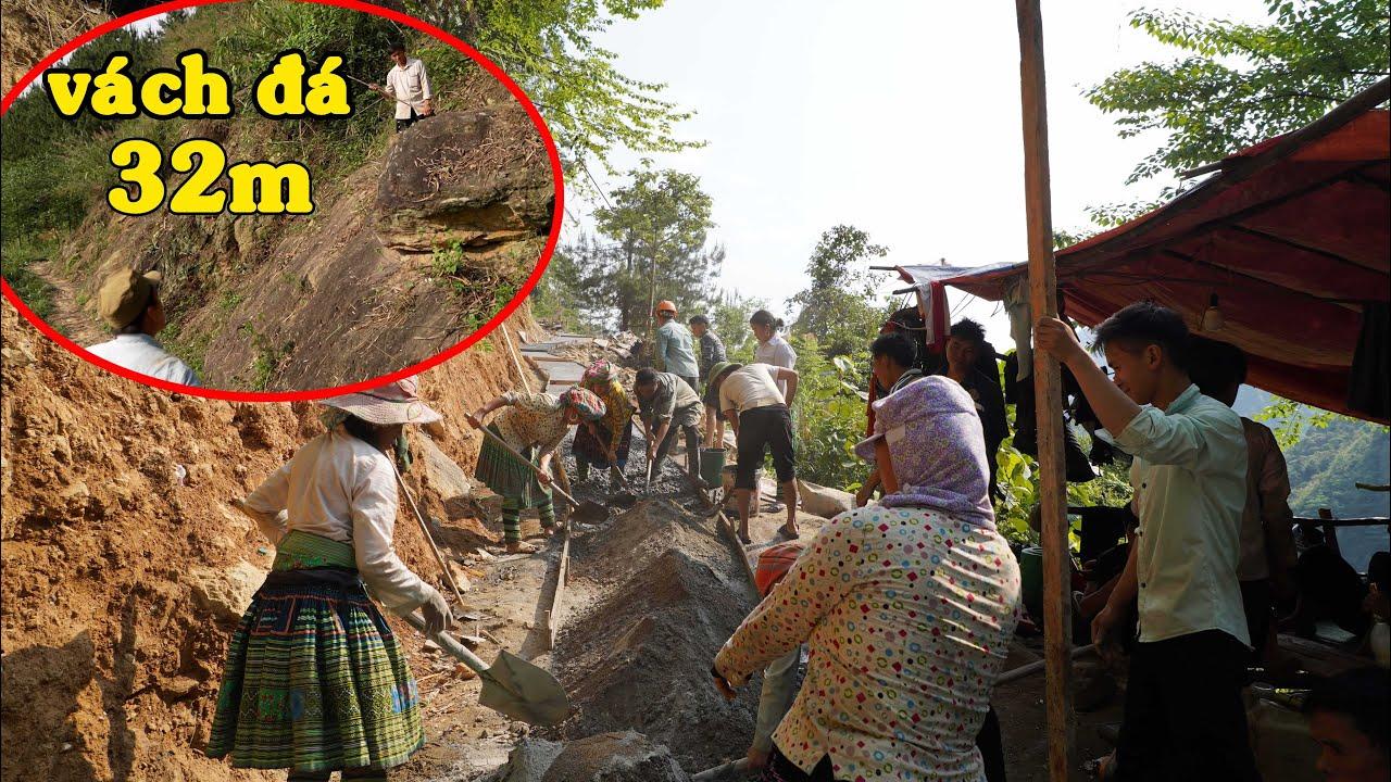 Tà chơ đã đổ bê tông đến lán nghỉ - khảo sát vách đá 32m rất khó | Con đường lên đỉnh Tà Chơ ( T 4 )
