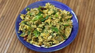 Egg Bhurji with Palak Recipe | Anda Bhurji & Palak | Indian Scrambled eggs with Spinach |