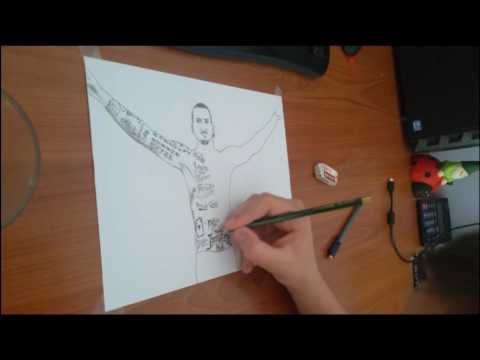 Zlatan Ibrahimovic drawing