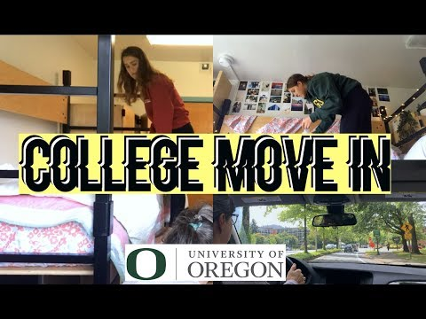 College Move In Vlog!! | University of Oregon | Sara