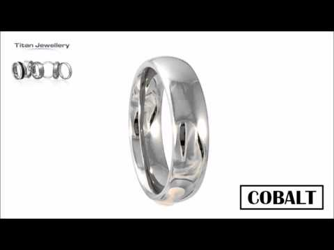 Men's 6mm Polished Court Cobalt Wedding Ring