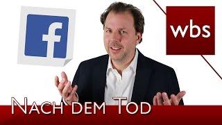 Haben Erben einen Anspruch auf den Zugang zum Facebook Account? | Kanzlei WBS