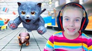 СИМУЛЯТОР МАЛЕНЬКОГО КОТЕНКА Веселое видео для детей Детская игра про котика
