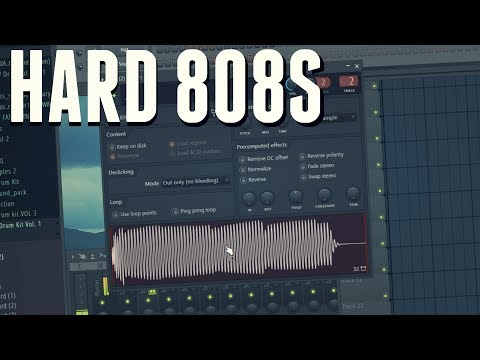 FL Studio 12 - Quick Tips - How to have HARD 808s!