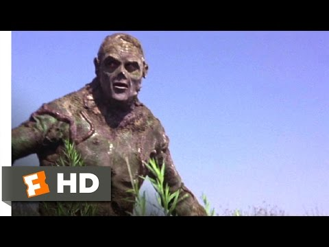 Swamp Thing (1982) - Attack on the Swamp Thing Scene (5/10)   Movieclips