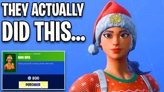 one of the only RARE SKINS left is back.. Fortnite ITEM SHOP (December 8) Nog Ops is in item shop!!