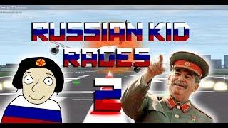 Russian Kid Rages On ROBLOX Flight Sim! PART 2! (Earrape Warning)