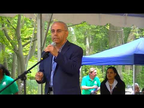 Dr. Wael Khoury at One World Day in Cleveland Cultural Gardens