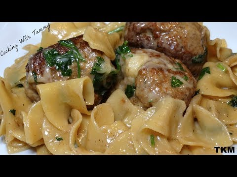 Parmesan Swedish Meatball Pasta