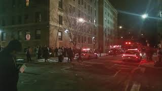 """CBS NY TV Show """"Blue Bloods"""" Filming An Explosion Scene In Washington Heights In Manhattan"""