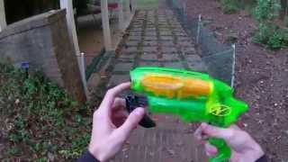 Vintage Review: A Mint Nerf Splitfire Unboxing and Firing Demo (Airjet Power Plus Line)