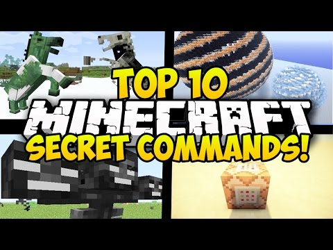 TOP 10 MINECRAFT SECRET COMMAND BLOCK COMMANDS FOR MINECRAFT! (Minecraft Secret Commands)