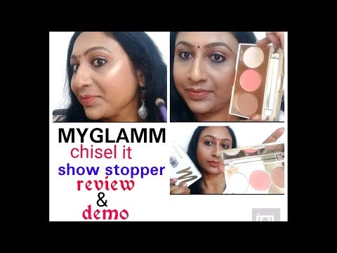 MY GLAMM 3 in1 chisel it face pallet | shows stopper | review and demo, myglamm product review