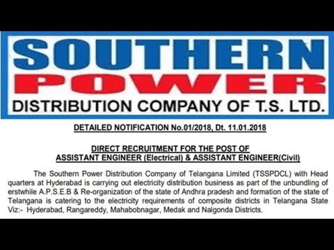Southern Power Distribution Company Limited Recruitment 2018   Apply Now !!