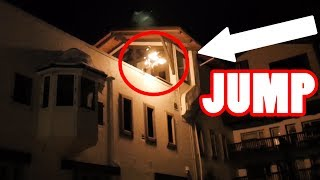 JUMP OFF HOTEL ROOF INTO POOL (On Fire)
