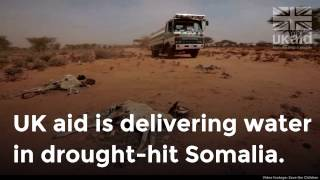 UK aid is delivering water in drought-hit Somalia