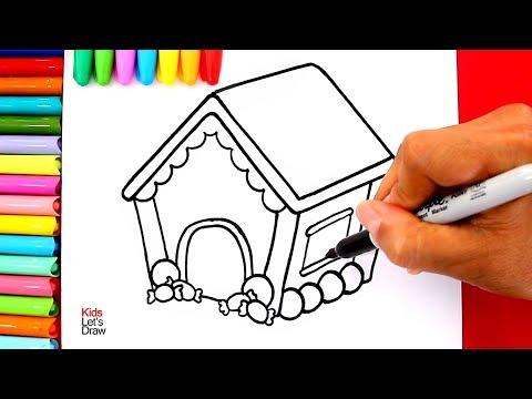 Aprende a dibujar y pintar una CASA DE JENGIBRE de NAVIDAD
