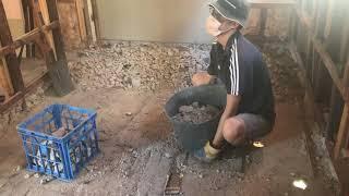 [DIY]Day7 はたらく人 working man コンクリート撤去