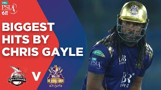 PSL2021 Biggest Hits By Chris Gayle Lahore Qalandars Vs Quetta Gladiators Match 4 MG2T